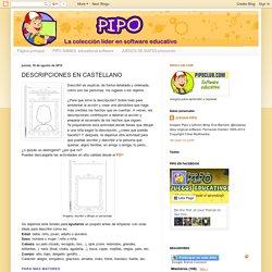 JUEGOS EDUCATIVOS PIPO: DESCRIPCIONES EN CASTELLANO