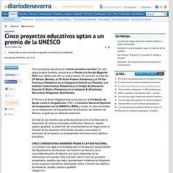 Cinco proyectos educativos optan a un premio de la UNESCO