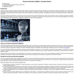 Recursos educativos digitales: Conceptos básicos