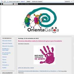 Orienta Galicia: Recursos educativos contra la violencia de género para Secundaria