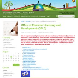 Office of Educator Licensing and Development (OELD)