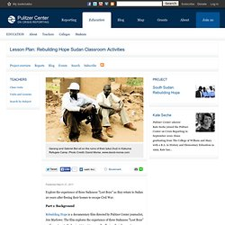 Educator Resources: Sudan Civil War-Lost Boys-Darfur
