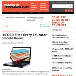 16 OER Sites Every Educator Should Know