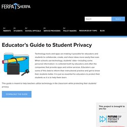 Educator's Guide to Student Privacy