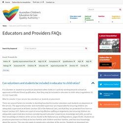 Educators and Providers