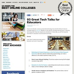 100 Great Tech Talks for Educators