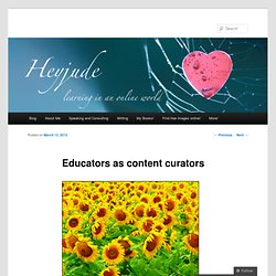 Educators as content curators