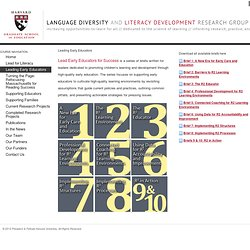 Leading Early Educators § Language Diversity & Literacy Development Research Group
