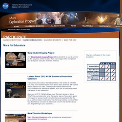 Mars Exploration Program: Mars for Educators
