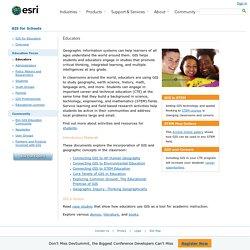Educators - GIS for Schools