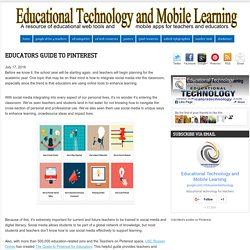Educational Technology and Mobile Learning: Educators Guide to Pinterest