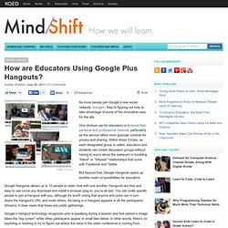 How are Educators Using Google Plus Hangouts?