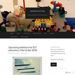 Upcoming webinars for ELT educators