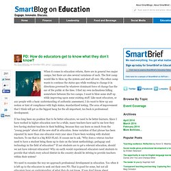 PD: How do educators get to know what they don't know? SmartBlogs