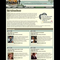 What's Up In Finance? . For Educators . Overview