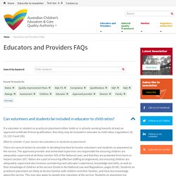 Educators and Providers