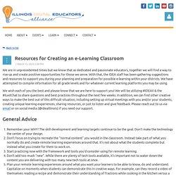 IDEA - Illinois Digital Educators Alliance - Resources for Creating an e-Learning Classroom