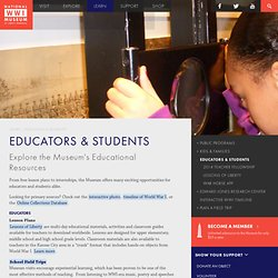 Educators and Students – National WWI Museum in Kansas City