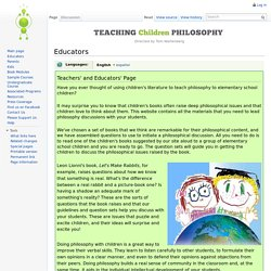 Educators - Teaching Children Philosophy