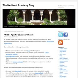 """""""Middle Ages for Educators"""" Website"""