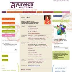 LESAGE - Landes (40) - Educatrice de santé en Ayurveda, Thérapeute corporel en soins ayurvédiques (massages, soins spéciaux de l'Ayurveda),