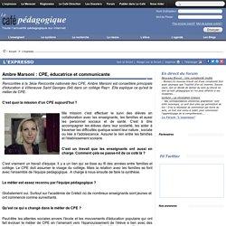 Ambre Marsoni : CPE, éducatrice et communicante
