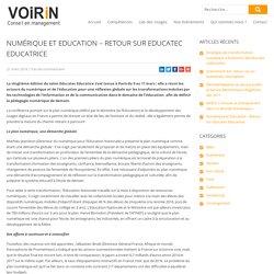 Numérique et Education - Retour sur Educatec Educatrice - voirin-consultants