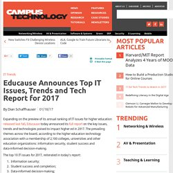 Educause Announces Top IT Issues, Trends and Tech Report for 2017