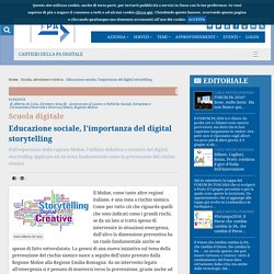 Educazione sociale, l'importanza del digital storytelling