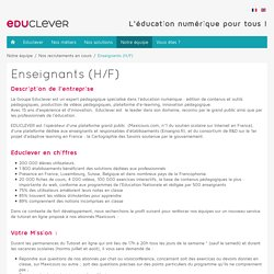 EDUCLEVER - Enseignants (H/F)