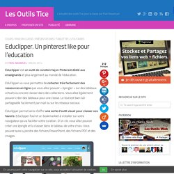 Educlipper. Un pinterest like pour l'education