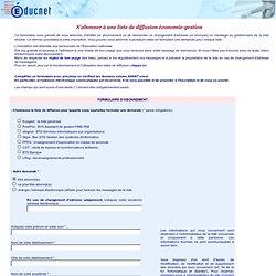 Educnet: S'abonner à une liste de diffusion économie-gestion