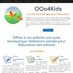 OOo4Kids, version simplifiée d'Open office pour les 7-12 ans