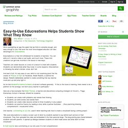 Easy-to-Use Educreations Helps Students Show What They Know