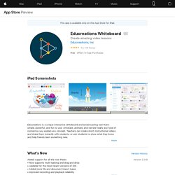 Educreations Whiteboard on the AppStore