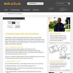 Eductus - 10 bästa tipsen för att få jobbet!