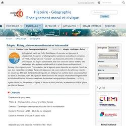 1° et 3° Roissy, plate-forme multimodale et hub mondial Ac Paris