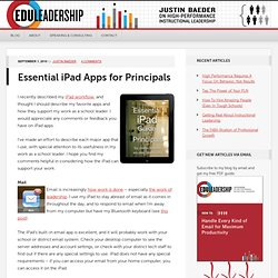Essential iPad Apps for Principals