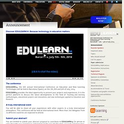 EDULEARN14 Barcelona - Announcement