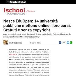 Nasce EduOpen: 14 università pubbliche mettono online i corsi