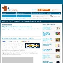 Eduportfolio : performant, accessible à tous et gratuit