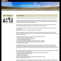 Portfolio C2i2e Pascale TALOC