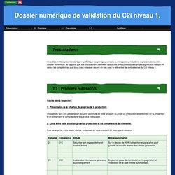Dossier numérique de validation du C2i niveau 1.