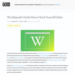 The Edupunks' Guide: How to Teach Yourself Online