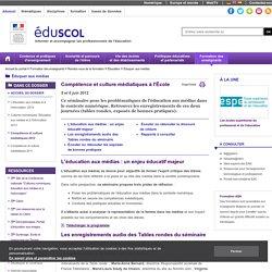 Éduquer aux médias - Compétence et culture médiatiques 2012