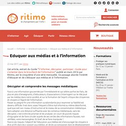 Eduquer aux médias et à l'information - ritimo
