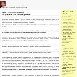 Eduquer aux Tices - Bonne question