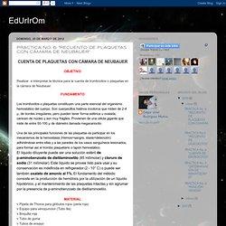 """EdUrIrOm: PRACTICA No. 6: """"RECUENTO DE PLAQUETAS CON CÁMARA DE NEUBAUER"""""""