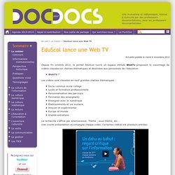 EduScol lance une Web TV