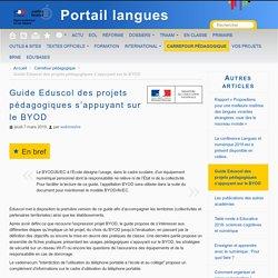 Guide Eduscol des projets pédagogiques s'appuyant sur le BYOD